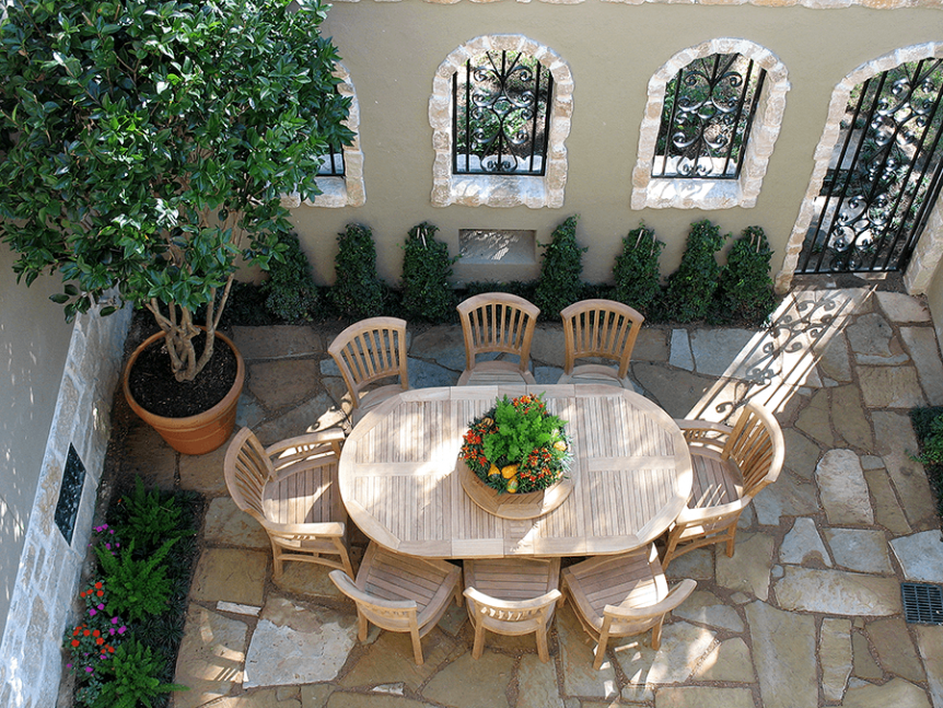 natural stone courtyard