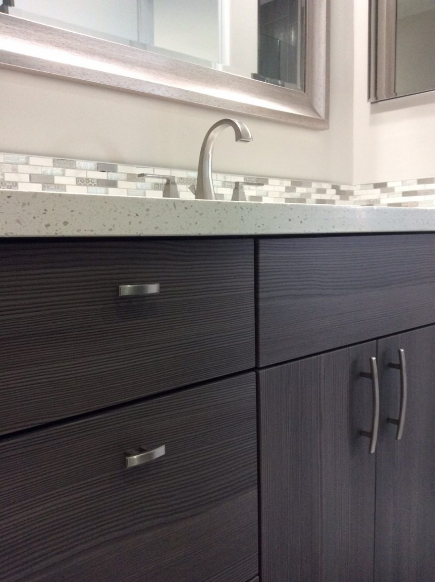 quartz top on bathroom vanity