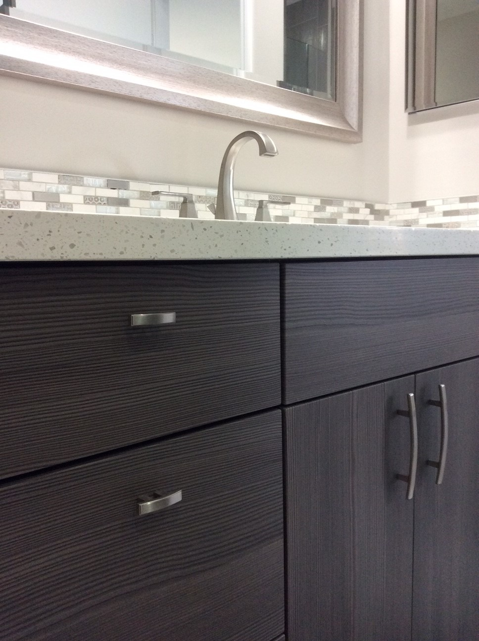 Contemporary Vanity With Composite Quartz Top Flourish Delray Design - Bathroom vanities delray beach fl