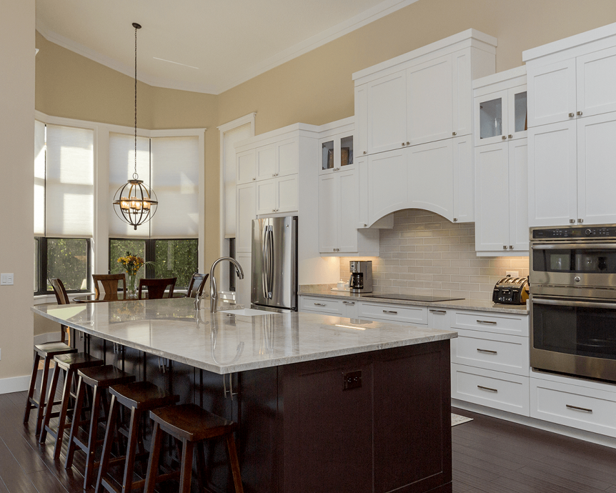 Open concept custom kitchen