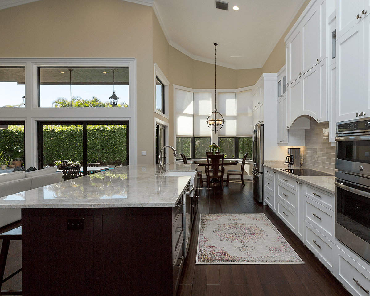 Open concept kitchen_dining