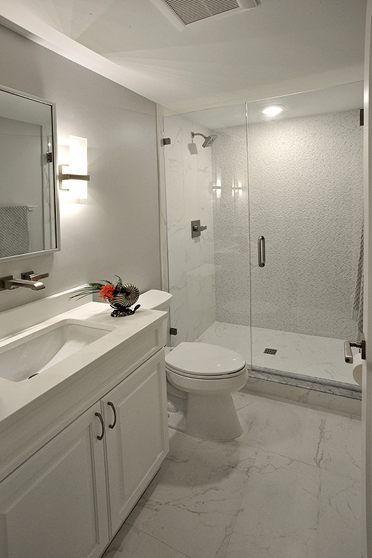 White on white guest bathroom