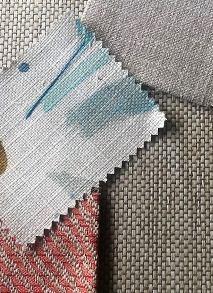 patterns and textures of fabric swatches