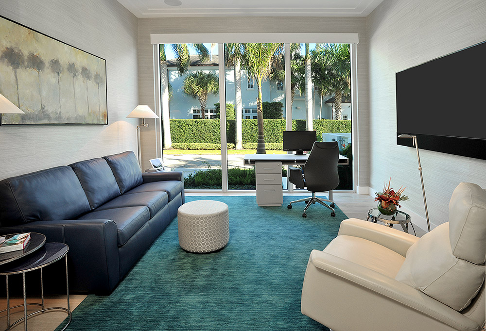 Refined style suits this home office-guest room