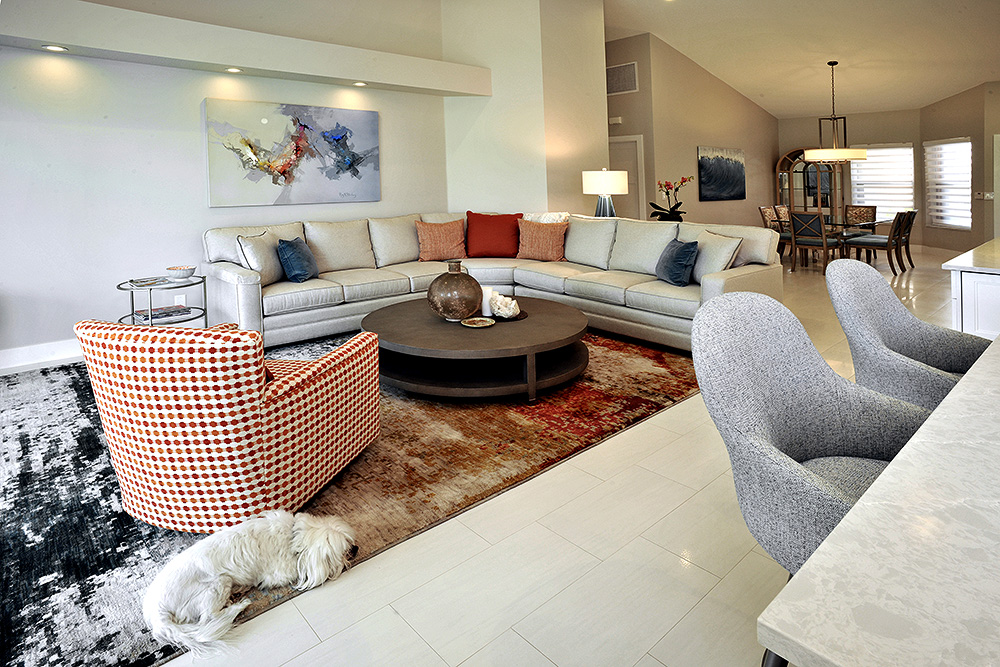 Comfortable and cozy style in an open floor plan