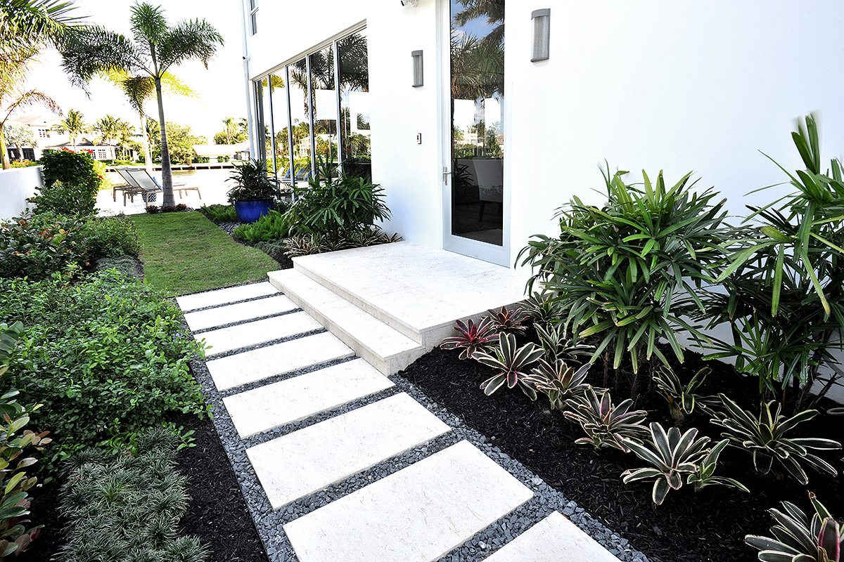 Tropical courtyard entrance