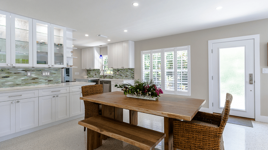 dining area and open kitchen