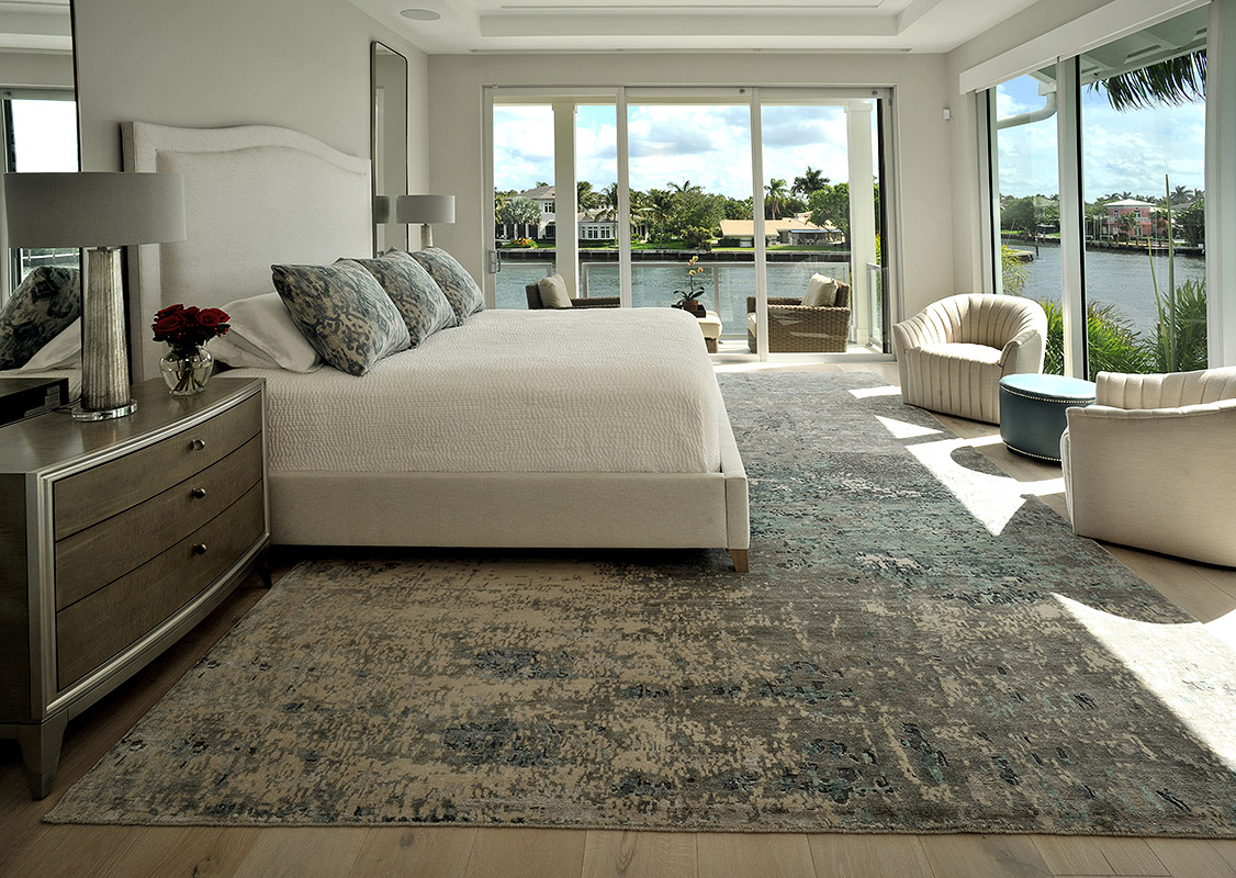 elegant waterfront bedroom