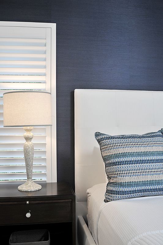 headboard and bed with custom pillow cover