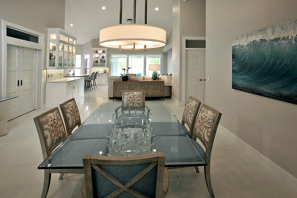 Dining-Living room combo is perfect for Florida entertaining