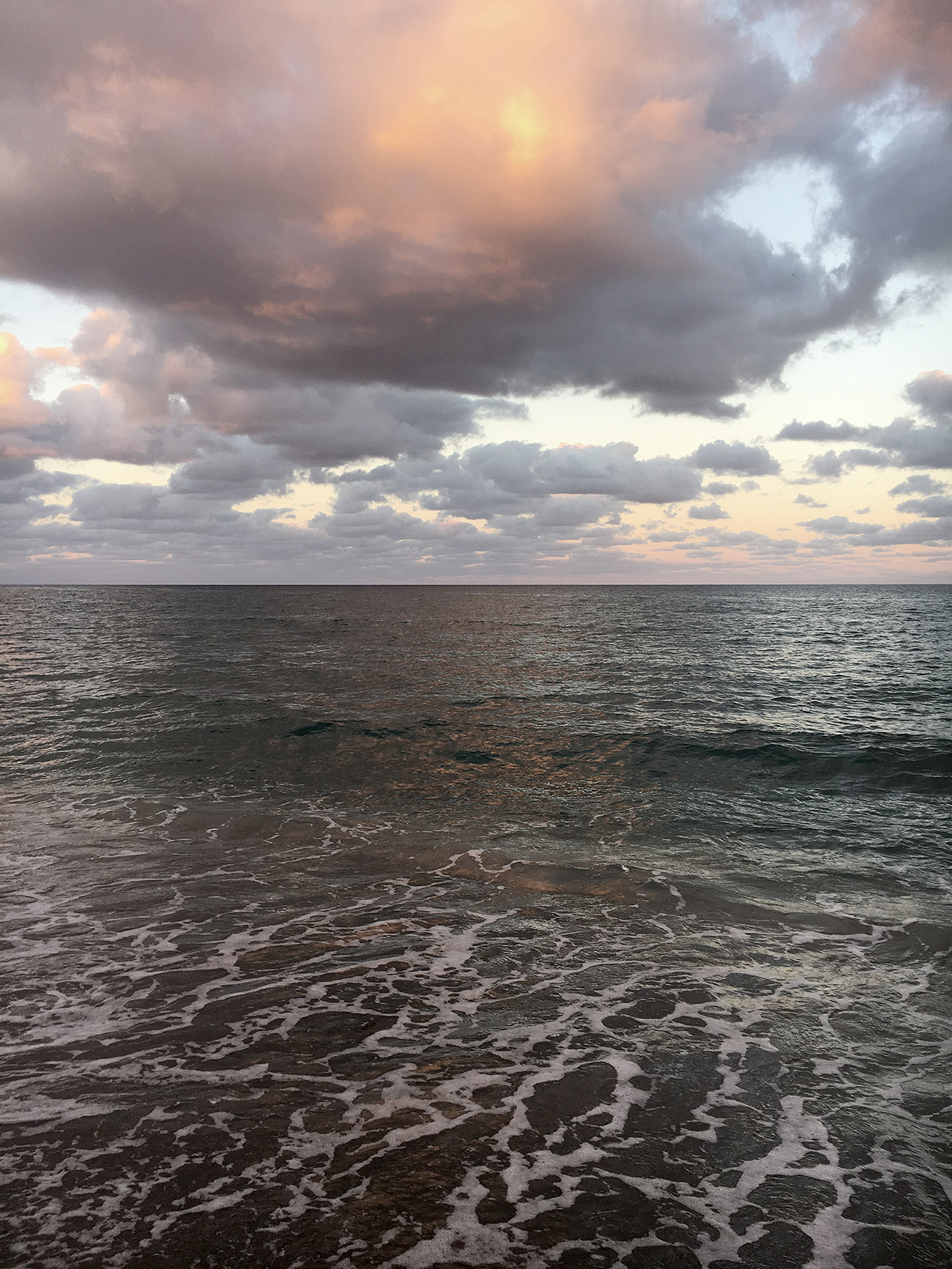 Inspirational photo of the ocean on a cloudy day